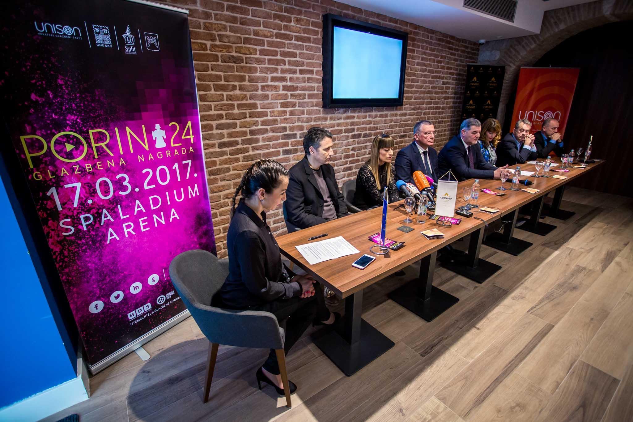 """U sklopu Tjedna Porina u hotelu Cornaro održala se konferencija za medije """"Treća godina Porina u Splitu""""."""
