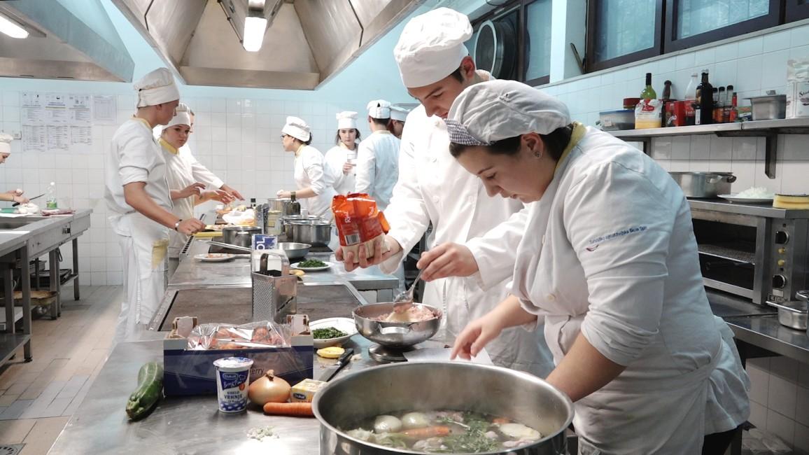 Ivan Pažanin kuhao u svojoj Turističko-ugostiteljskoj školi