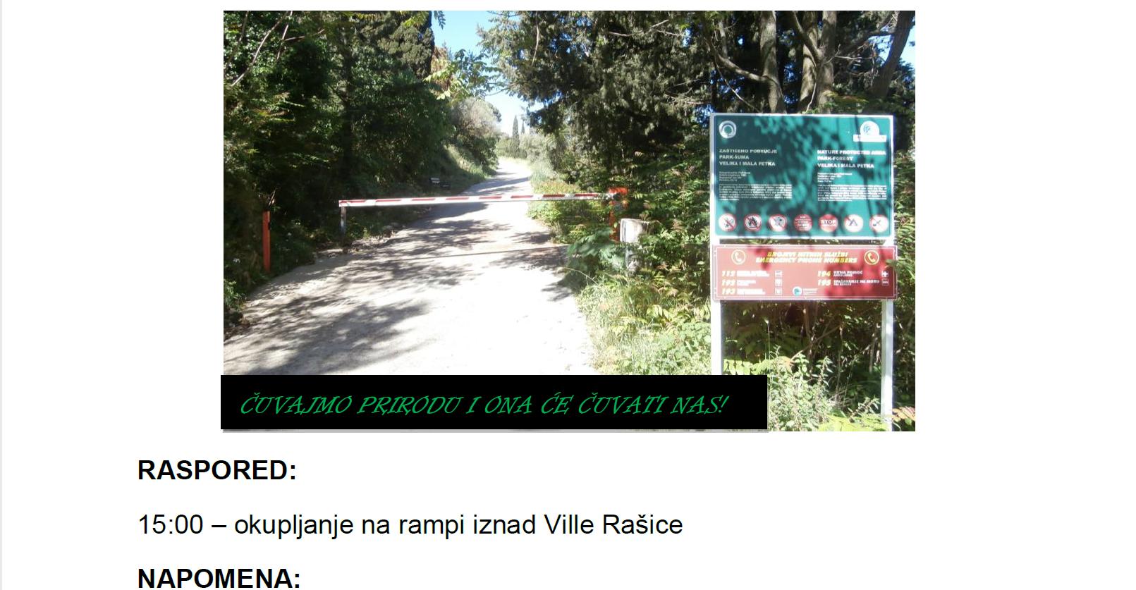 Poziv na akciju čišćenja park-šume Velika i Mala Petka Dodajmo kako je najavljena akcija ipak za srijedu (24.05) s početkom u 15:00
