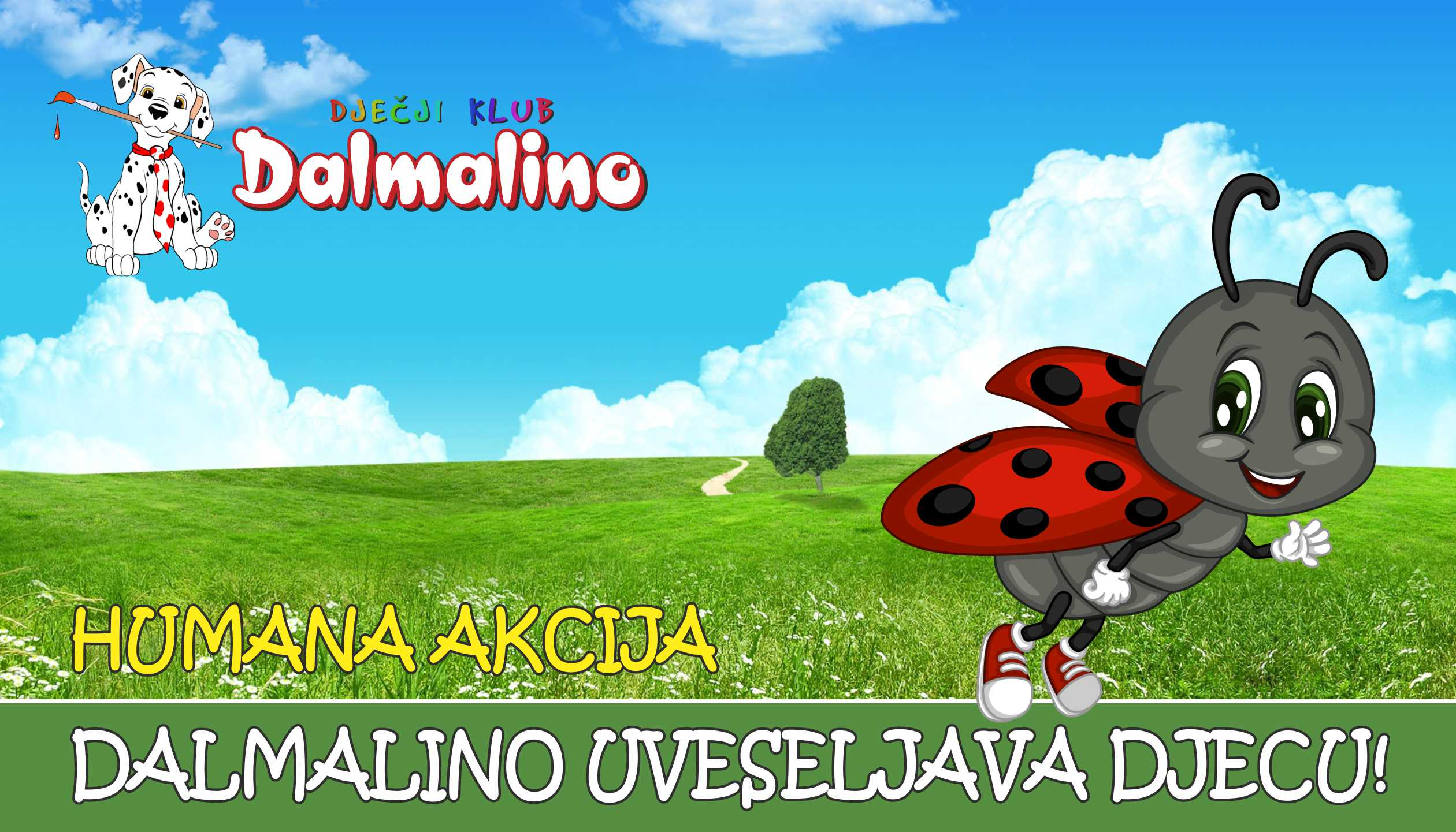 """Humana akcija DALMALINO UVESELJAVA DJECU! S veseljem dijelimo s Vama informaciju da će se 1. Humana akcija """" DALMALINO UVESELJAVA DJECU!"""", koju organizira Dječji klub Dalmalino održati u OB - PULA na Odjelu za pedijatriju 13. lipnja ( utorak ) 2017.g. s početkom u 14,00 sati."""