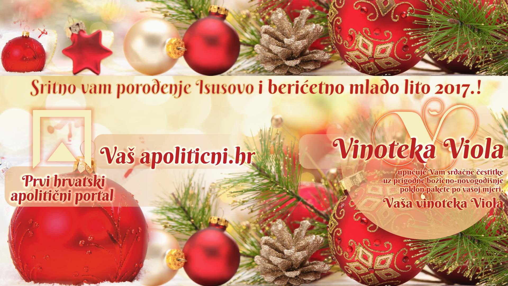 Čestit vam Božić i sretna Nova Godina 2017.!