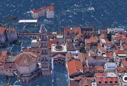 Pogledajte kako bi 2050. mogli izgledati Zadar i Split ako se poveća razina mora