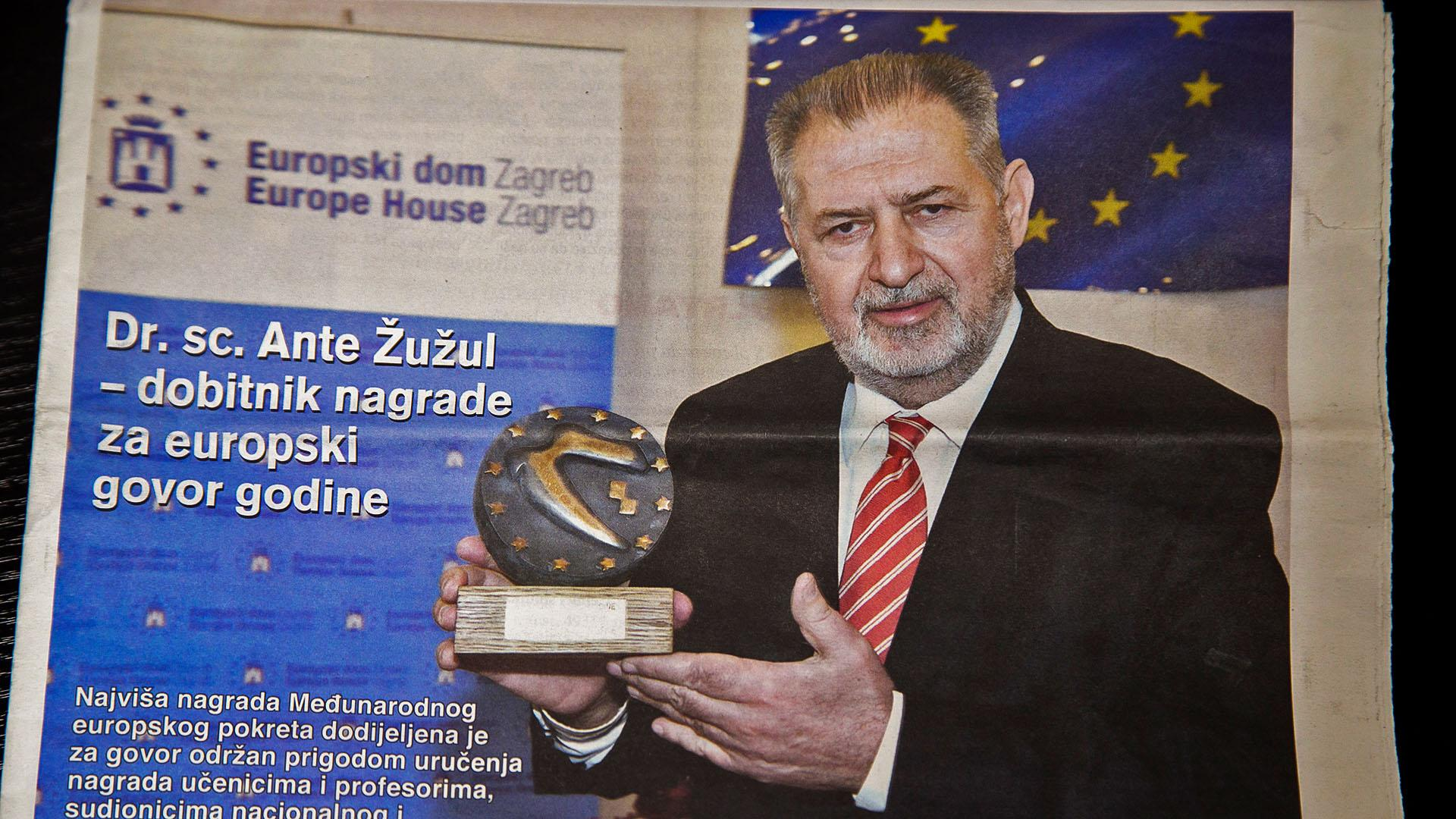 Dr.sc. Ante Žužul - dobitnik nagrade za europski govor godine